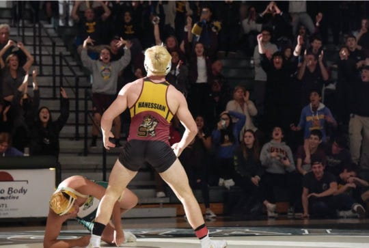 Nico Hanessian of Simi Valley High is ranked No. 2 at 182 pounds in Southern California and No. 14 in the state.