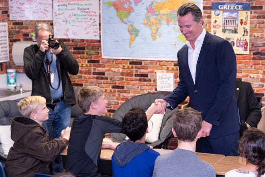 Governor Gavin Newsom made a surprise visit to Riverview Elementary School on Wednesday, February 13, 2019 to sign his first bills as Governor. The bills provide urgent assistance for communities that have contaminated and unsafe water and also support communities that have been rocked by California wildfires.