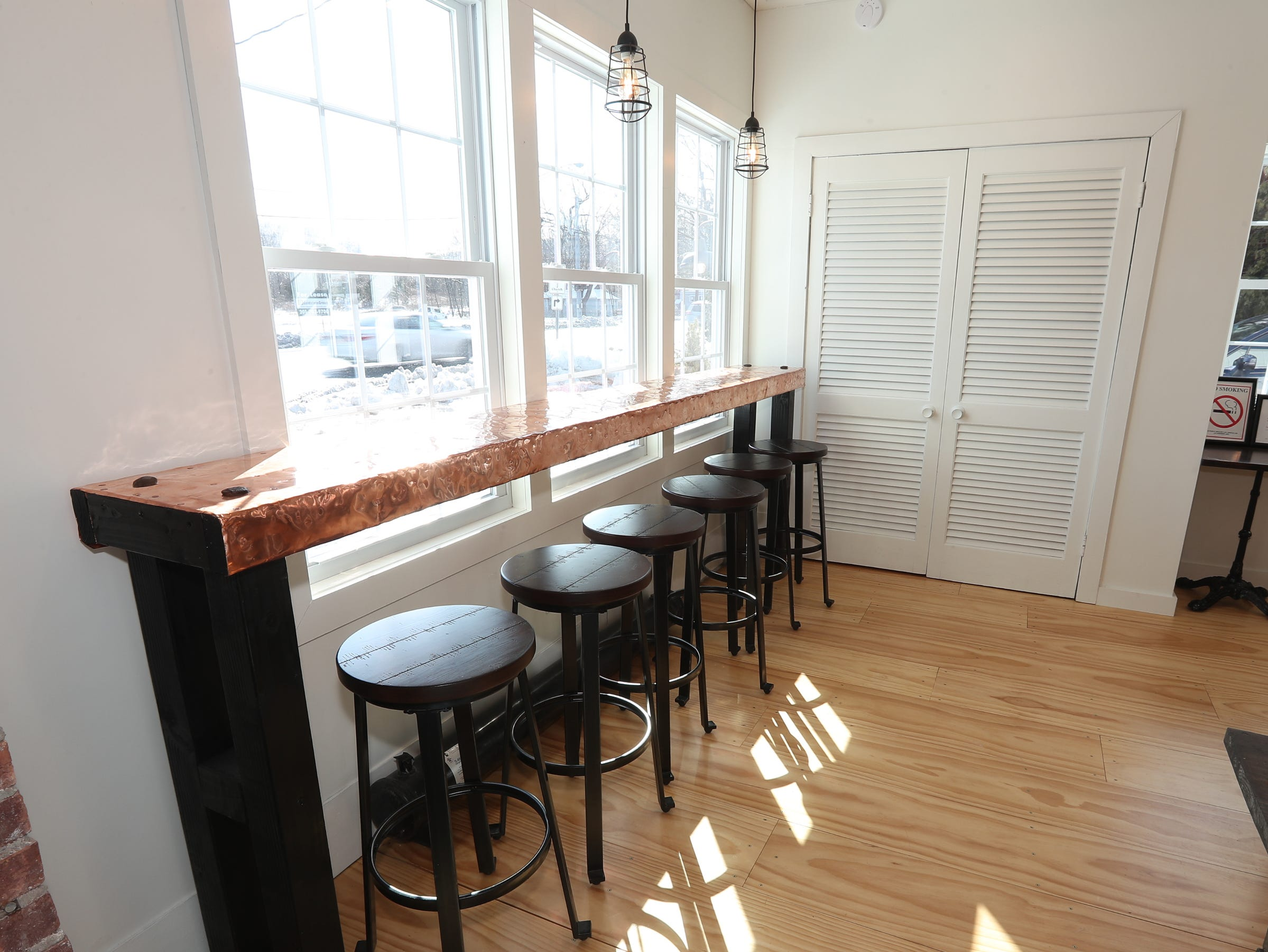 The eating area at Happy Belly Kitchen in Sloatsburg on Wednesday, February 13, 2019.