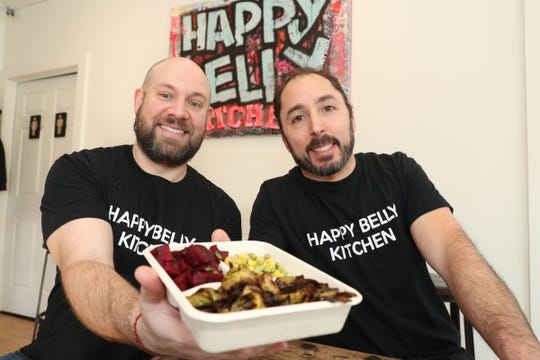 David Diamond, left, and Ilan Nifco co-owners of Happy Belly Kitchen in Sloatsburg, photographed on Wednesday, February 13, 2019.