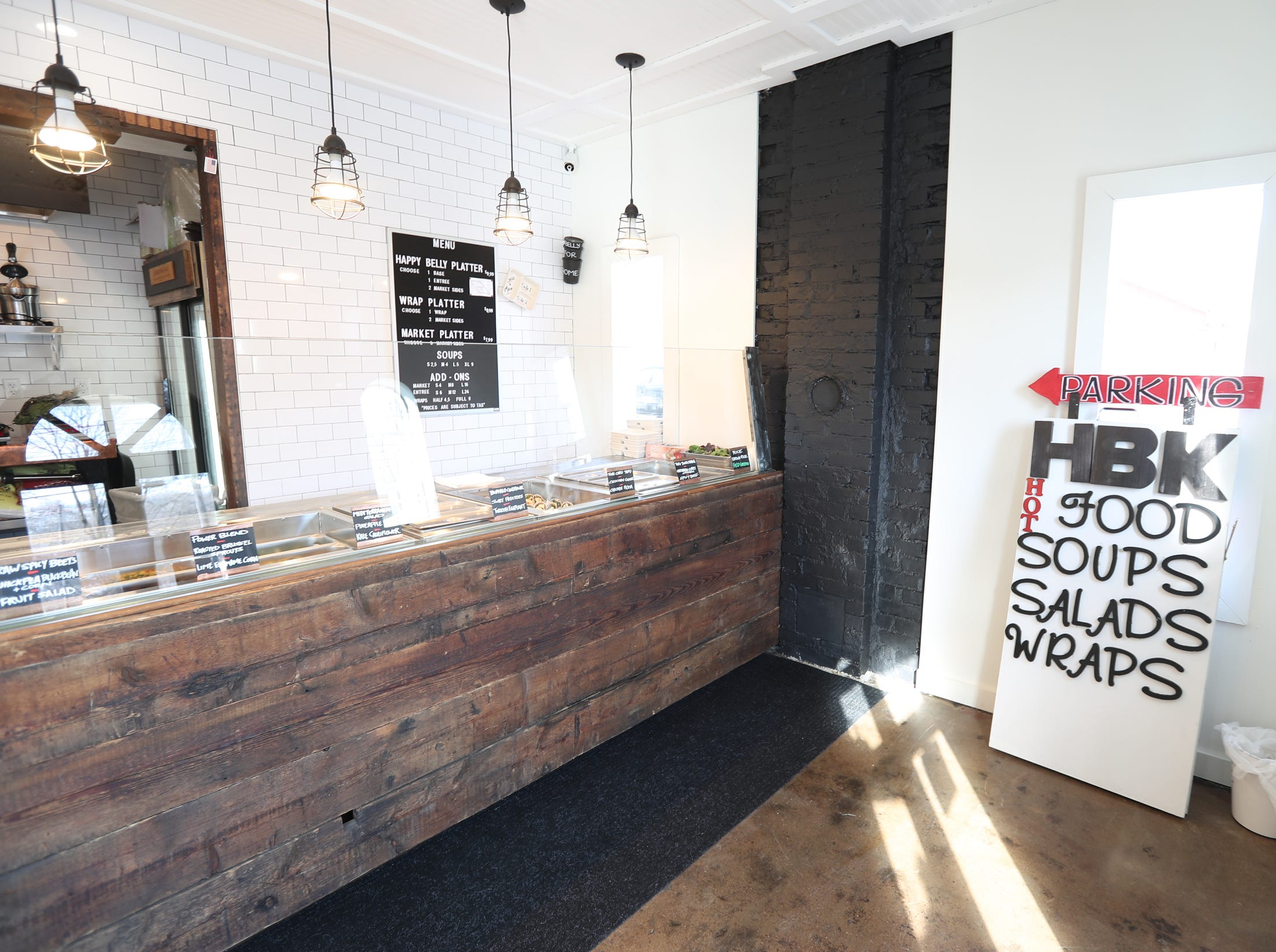 Interior of Happy Belly Kitchen in Sloatsburg on Wednesday, February 13, 2019.