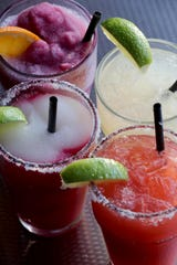 A selection of margaritas at Taco Dive Bar in Peekskill. Taco Dive Bar offers over 50 different tequilas.