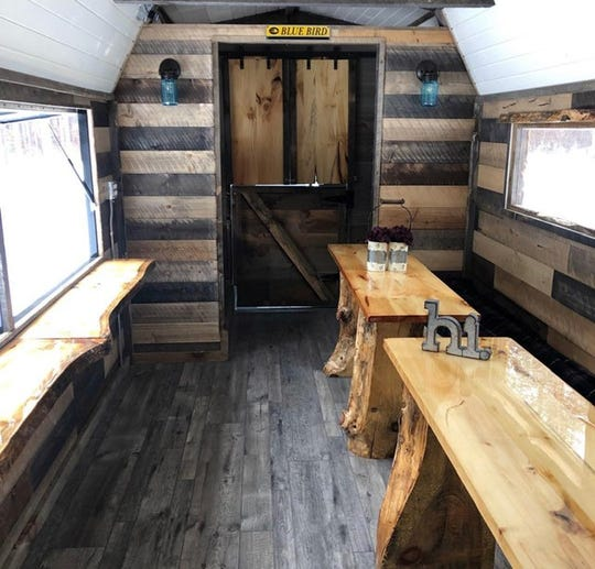 The interior of the Foodie Bus.