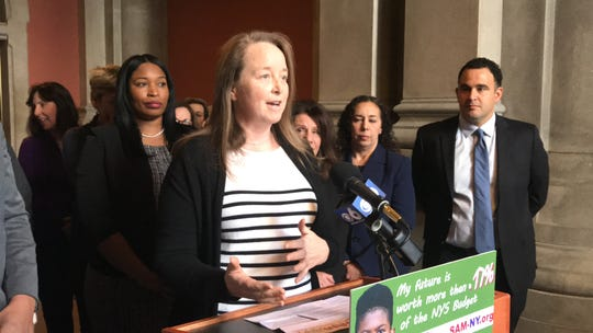 Hannah Kenny, a Harrison resident who voted for marijuana legalization in Colorado, speaks about why she came to regret her vote at the state Capitol on Mon., Feb. 11, 2019.