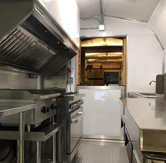 The kitchen of the Foodie Bus.