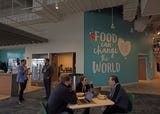 About 400 employees of Danone North America have moved to their new headquarters in the former Fortunoff store space in downtown White Plains.