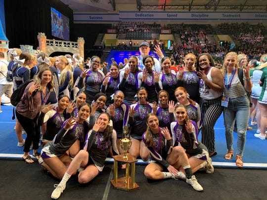 New Rochelle celebrates its fourth-place finish at cheerleading nationals in Florida.