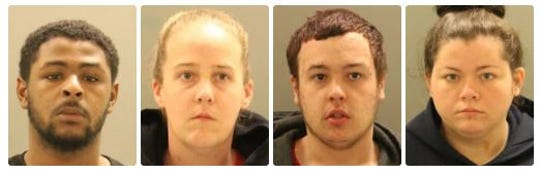 Four were arrested: 19-year-old, Malik Thompson of Newark, 30-year-old, Mary Smart of Newark, 20-year-old Frank Torres of Bear, and 22-year-old Christina Havens of Middletown, in connection to multiple car thefts in Ogletown.