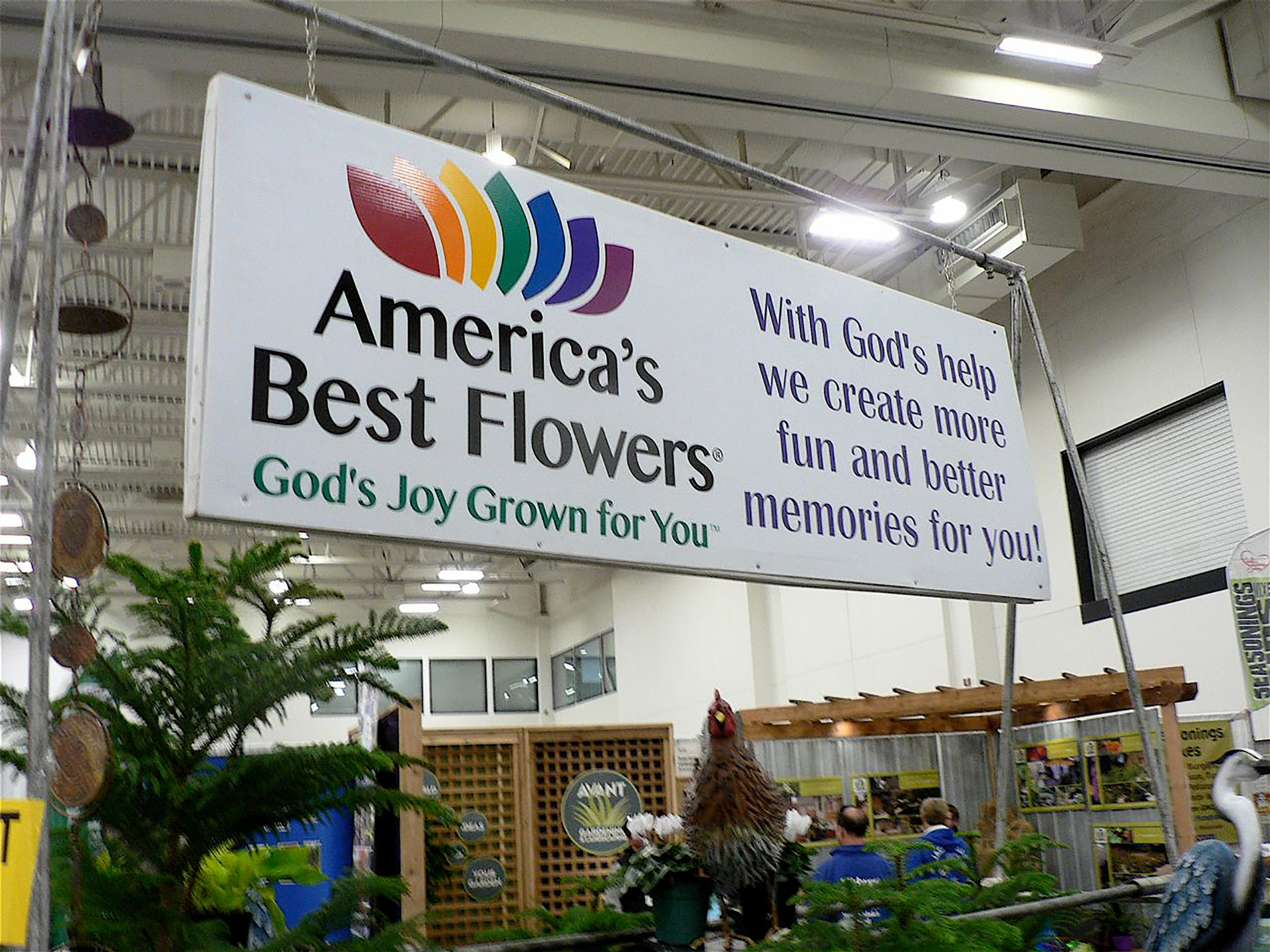 Ed Knapton owner of America;s Best Flowers was unable to attend as he continues to battle cancer.