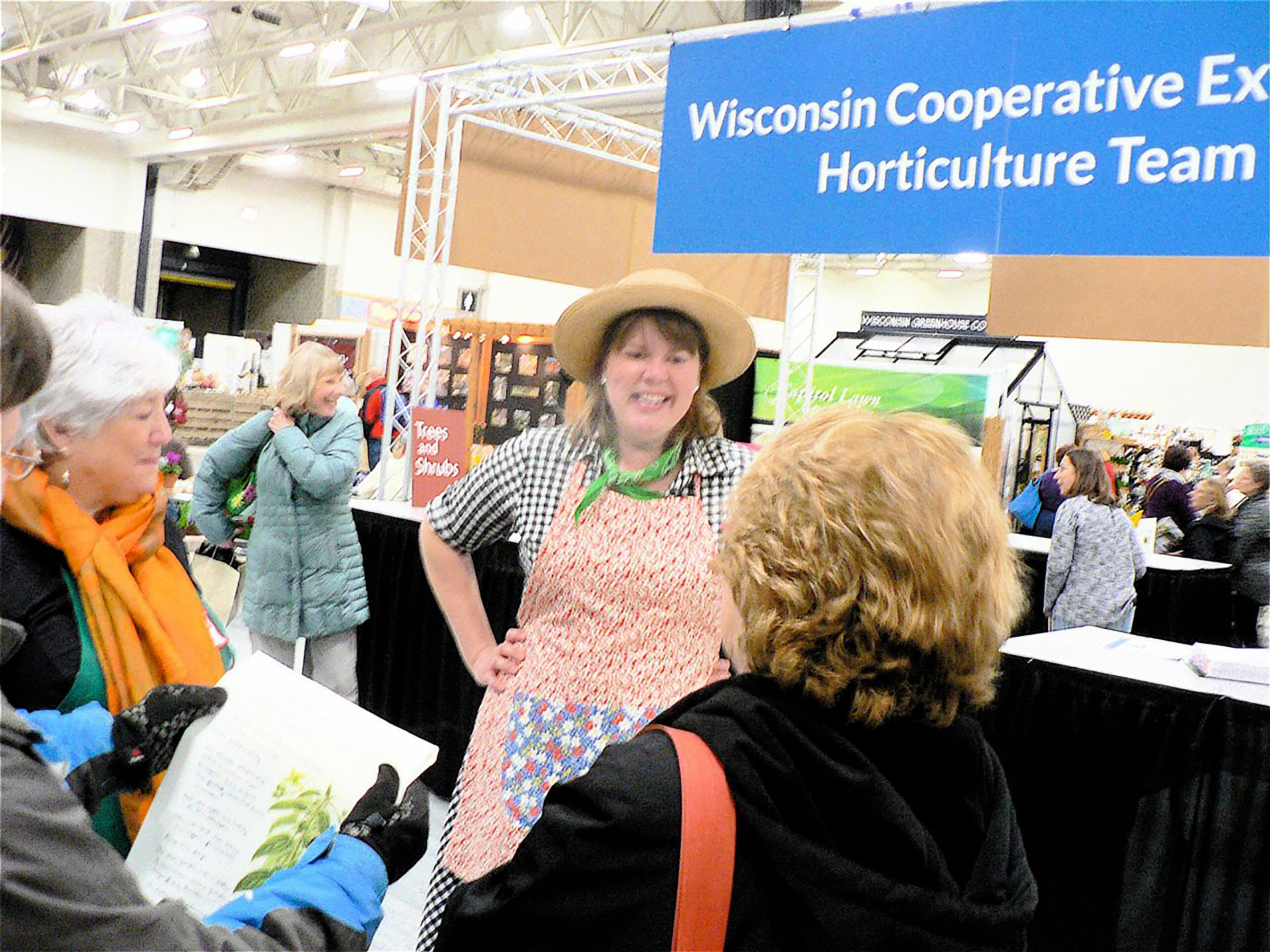"Inga Witscher of ""Around the Farm Table"" WPT fame greeted visitors."