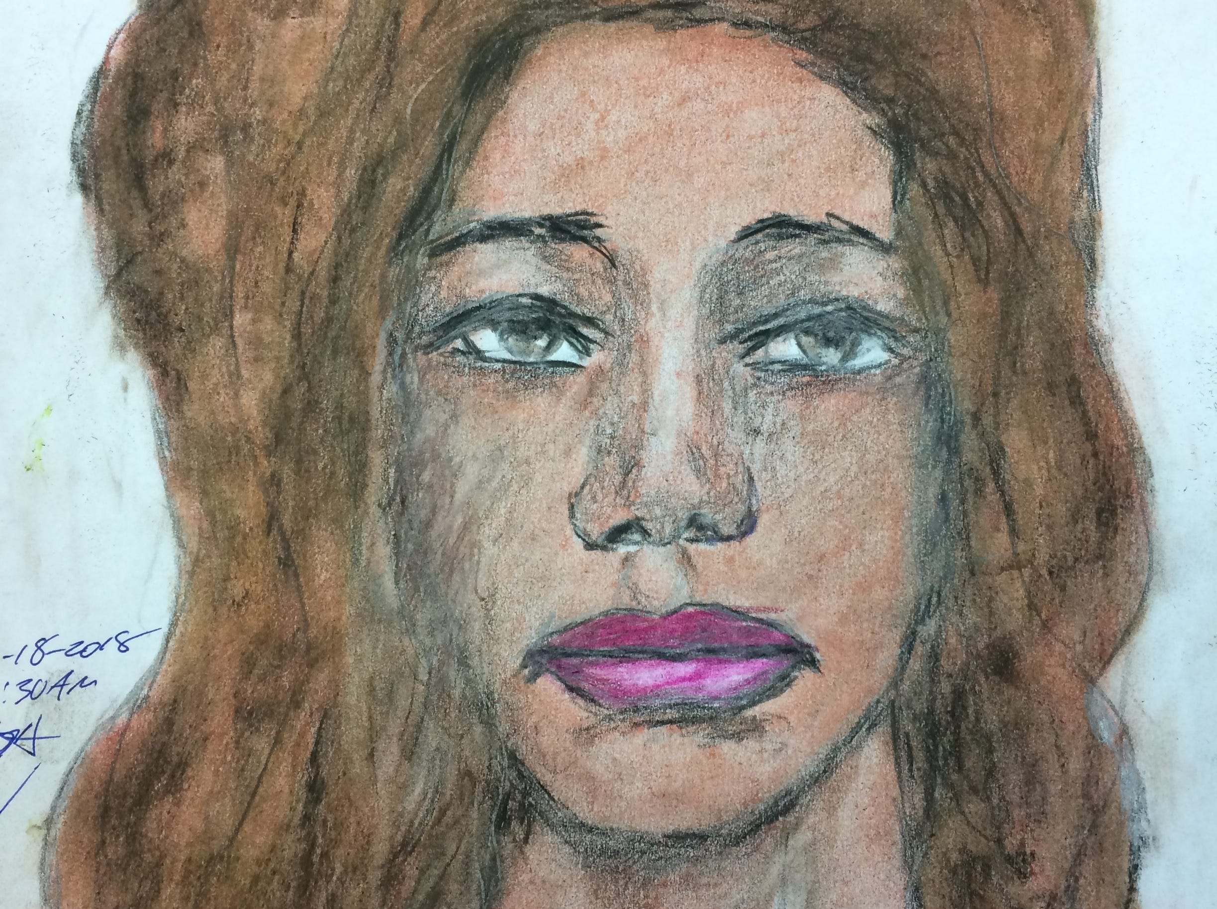 Serial killer Samuel Little drew this woman who he says he murdered in 1993. Little told authorities she was a 40-year-old black female.