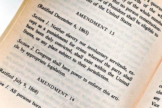 the 13th Amendment to the US Constitution slavery