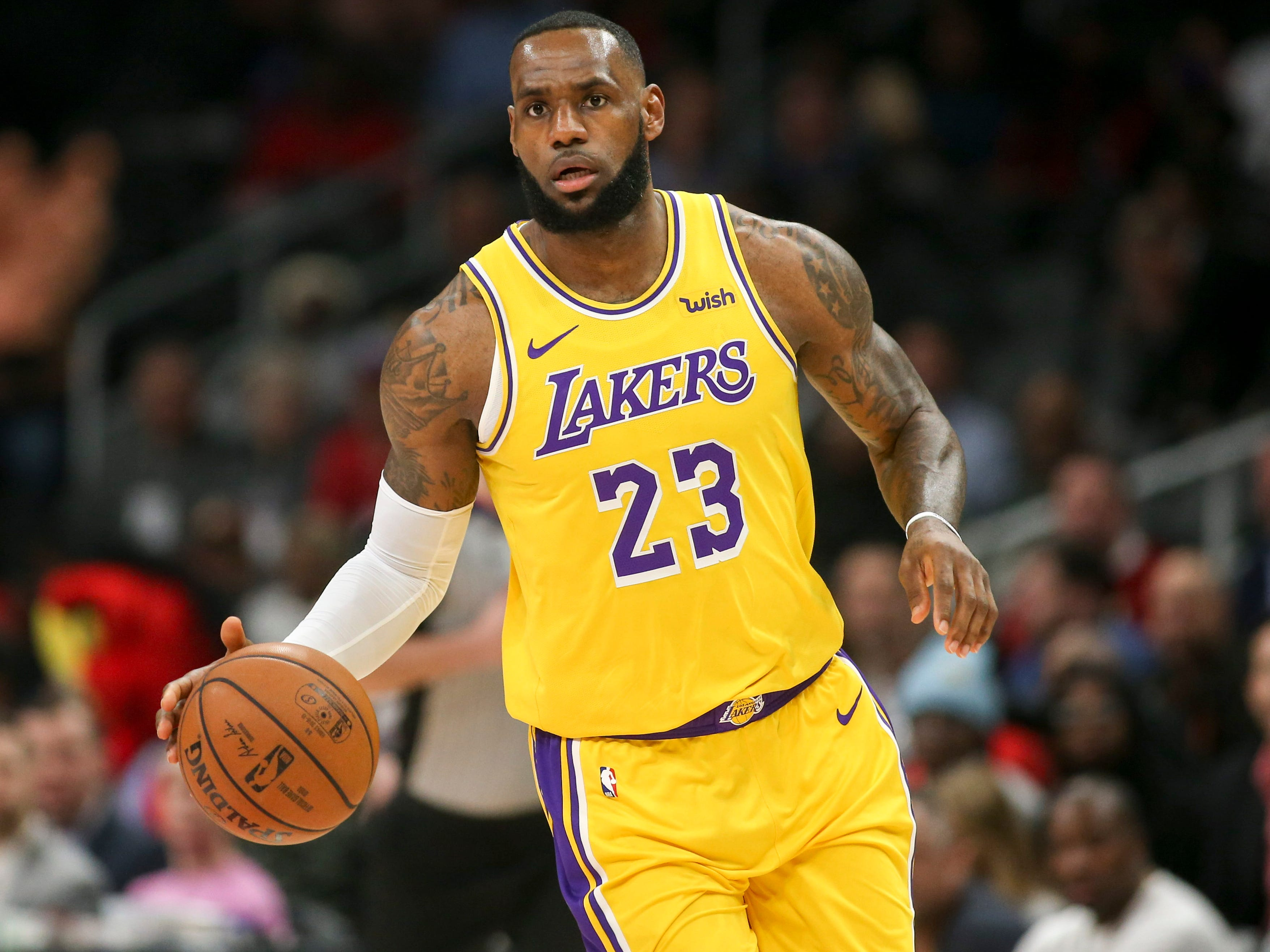 82. LeBron James, Lakers (Feb. 12): 28 points, 16 assists, 11 rebounds in 117-113 loss to Hawks (fifth of season).