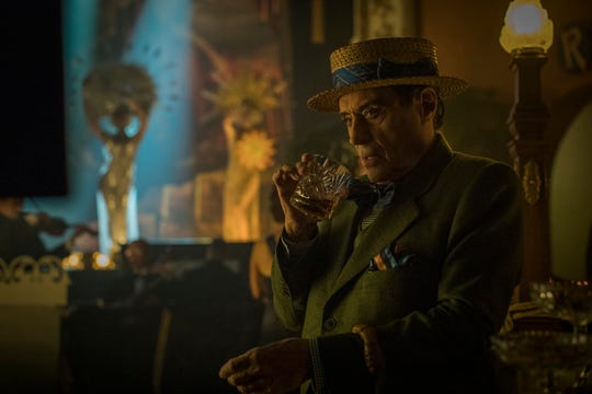 Ian McShane plays Mr. Wednesday in Starz' 'American Gods,' which returns for Season 2 on March 10.