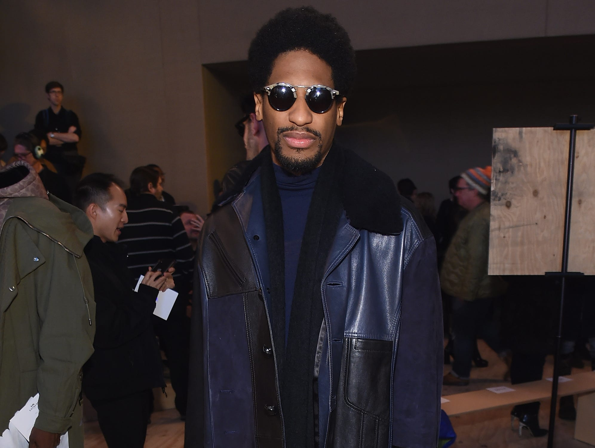 NEW YORK, NY - FEBRUARY 12:  Musician Jon Batiste attends Coach 1941 fashion show at the NYSE on February 2019 during New York Fashion Week on February 12, 2019 in New York City.  (Photo by Jamie McCarthy/Getty Images) ORG XMIT: 775290960 ORIG FILE ID: 1124280073
