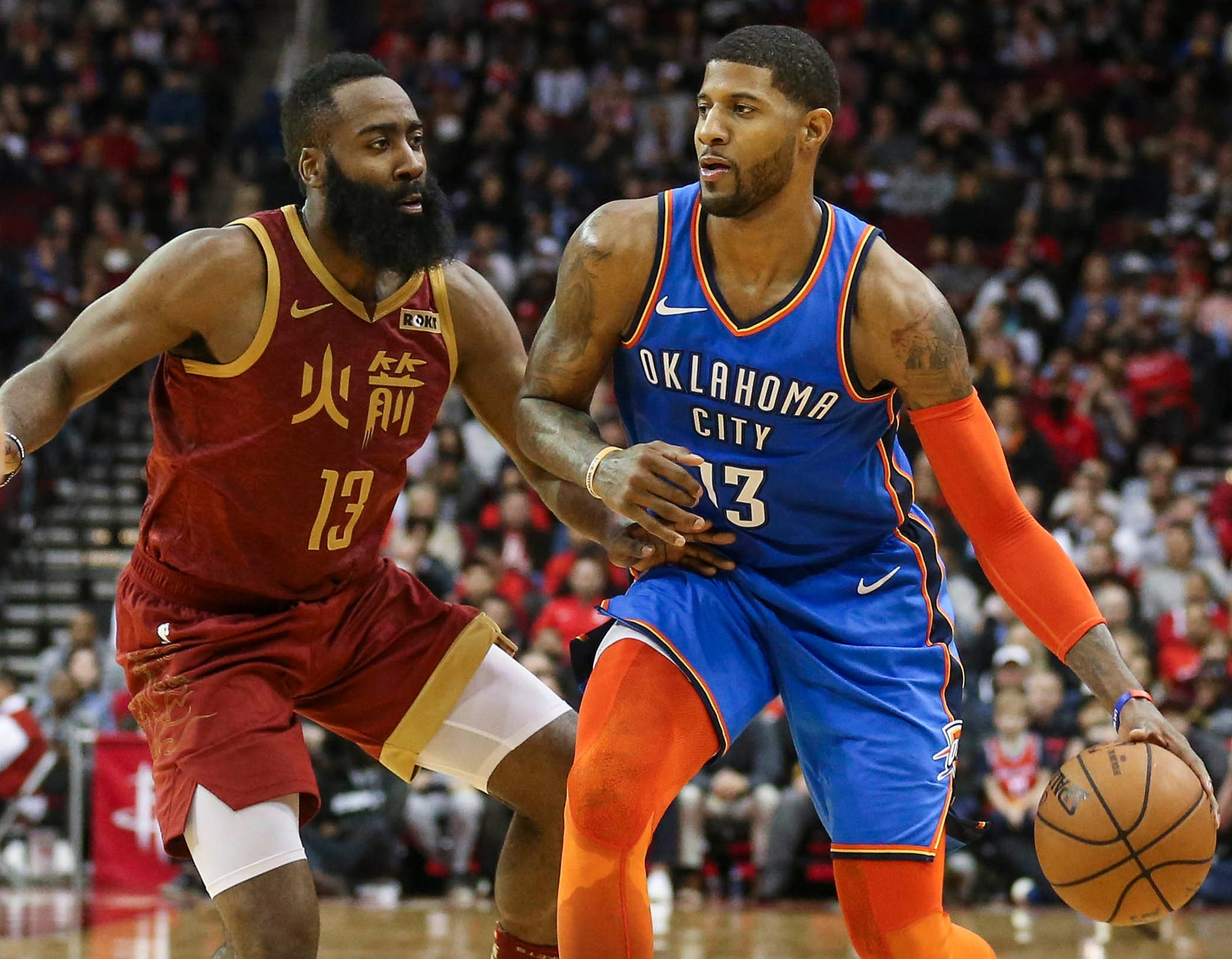 Paul George and James Harden