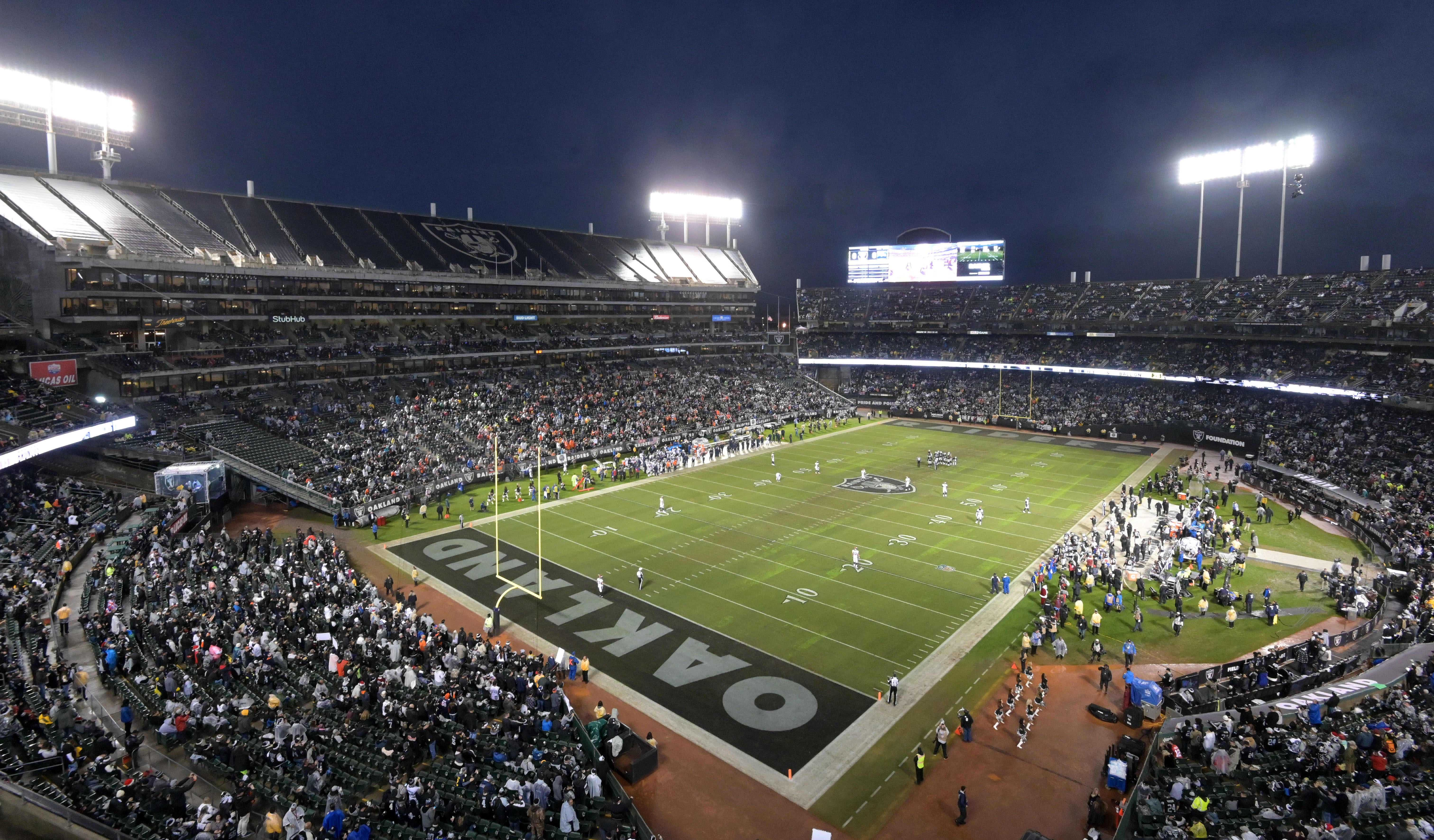 The Raiders have been playing at the Oakland-Alameda County Coliseum since relocating back to the city in 1995.