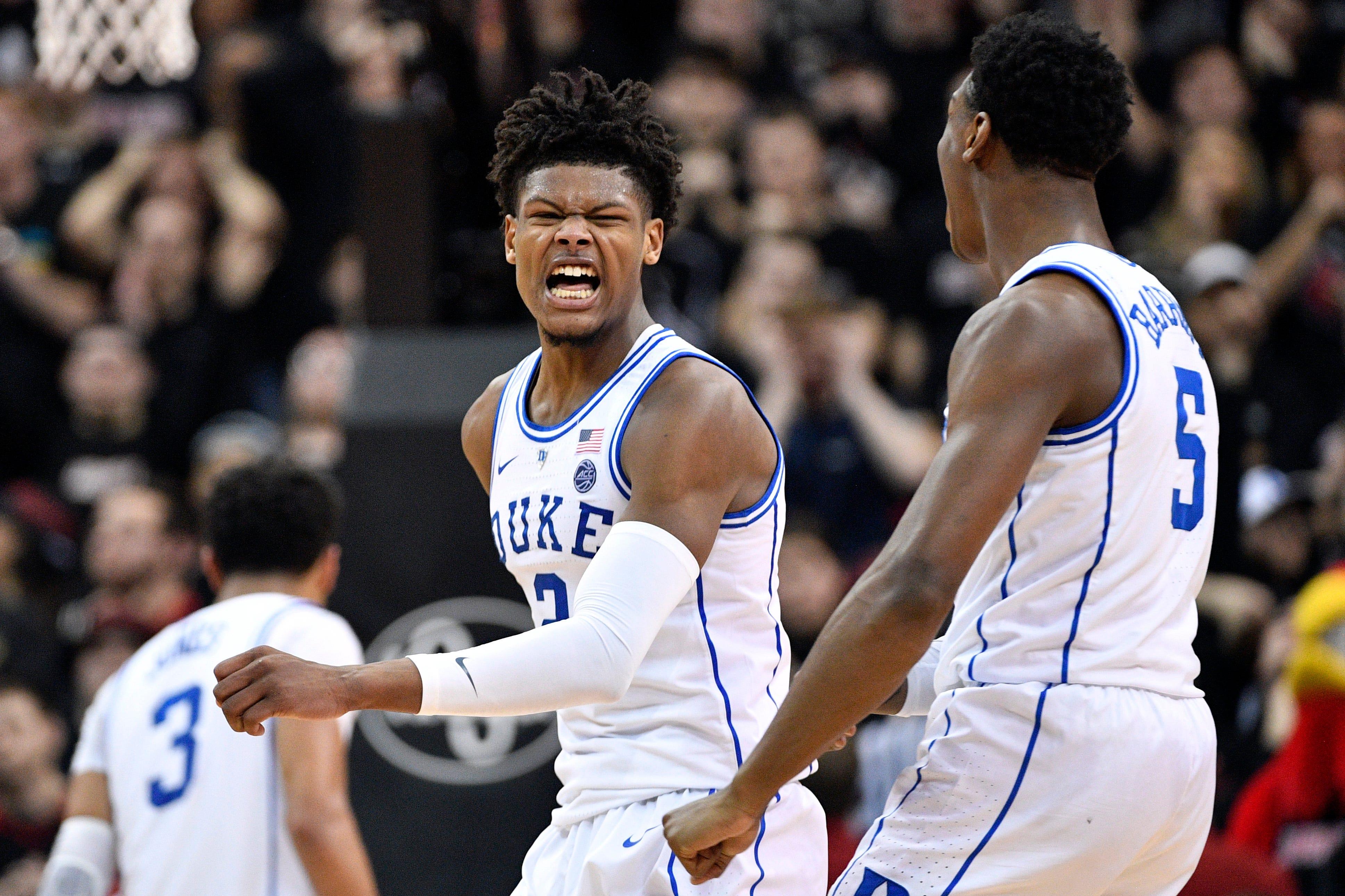 No. 2 Duke stuns No. 20 Louisville with historic 23-point comeback