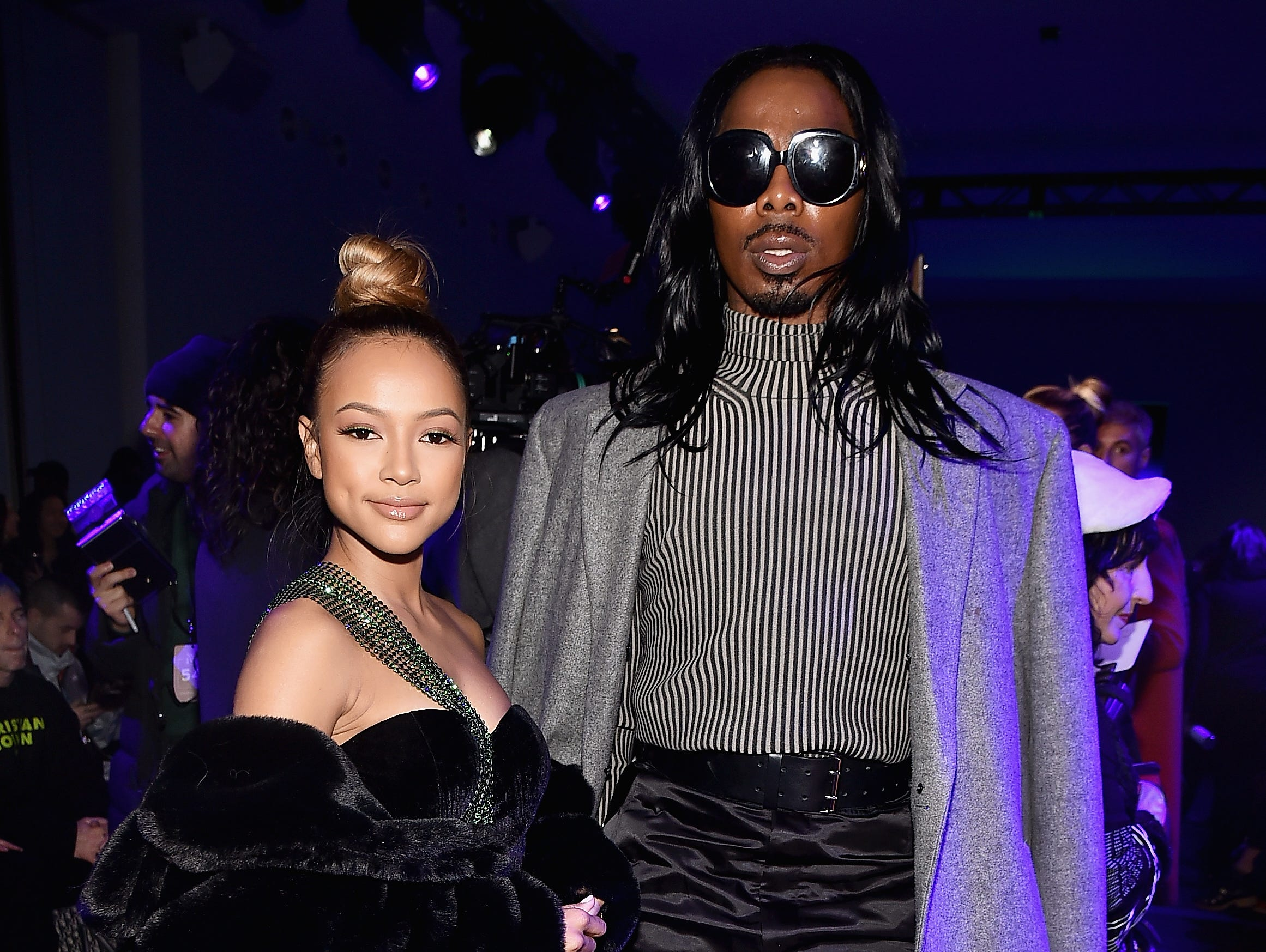 NEW YORK, NY - FEBRUARY 12:  Karrueche Tran and EJ King attend the Christian Cowan front row during New York Fashion Week: The Shows at Gallery II at Spring Studios on February 12, 2019 in New York City.  (Photo by Theo Wargo/Getty Images for NYFW: The Shows) ORG XMIT: 775290956 ORIG FILE ID: 1124278903