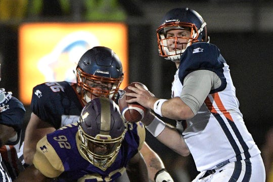 Orlando Apollos quarterback Garrett Gilbert had an impressive debut in the AAF.