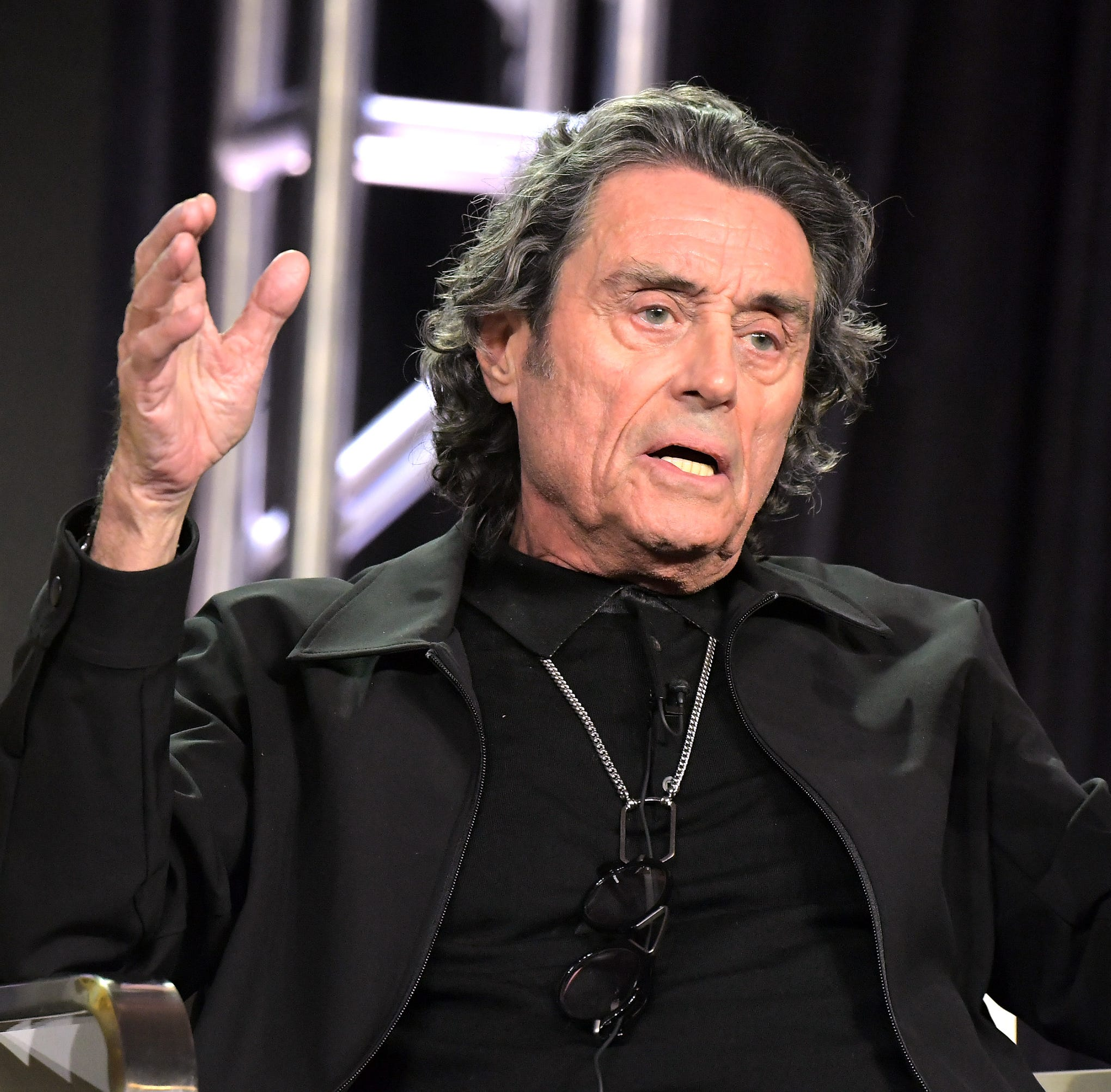 Ian McShane, who attended a Television Critics Association panel Tuesday to discuss Starz' 'American Gods,' also briefly discussed HBO's upcoming 'Deadwood' film.