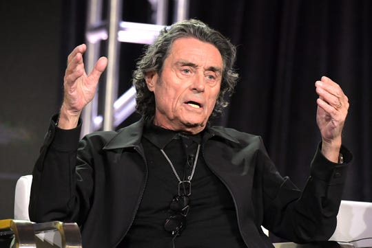 Ian McShane, who attended the Television Critics Association gathering Tuesday to discuss Starz' 'American Gods,' also briefly addressed HBO's upcoming 'Deadwood' film.