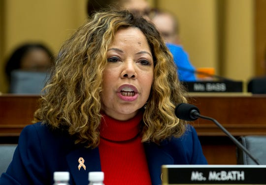 Rep. Lucy McBath D-Ga., speaks during the House Judiciary Committee hearing on gun violence, at Capitol Hill in Washington, Wednesday, Feb. 6, 2019.