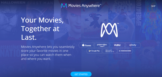 You can use the free Movies Anywhere service on your Nintendo Switch. It merges video accounts for you and lets you watch movies via the YouTube app.