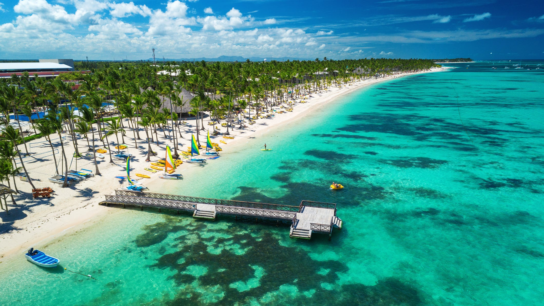 Dominican Republic: The Dominican Republic is probably the cheapest Caribbean island to visit if you're looking for affordable all-inclusive deals. On a recent visit to CheapCaribbean.com, there were dozens of packages in Punta Cana, the most popular resort area, starting at just $599 per person for air and four nights' accommodations. Activities in the area include snorkeling, zip lining and off-road ATV tours through the jungle. You can also go hiking and swim in clear lagoons at the Indigenous Eyes Ecological Park & Reserve.