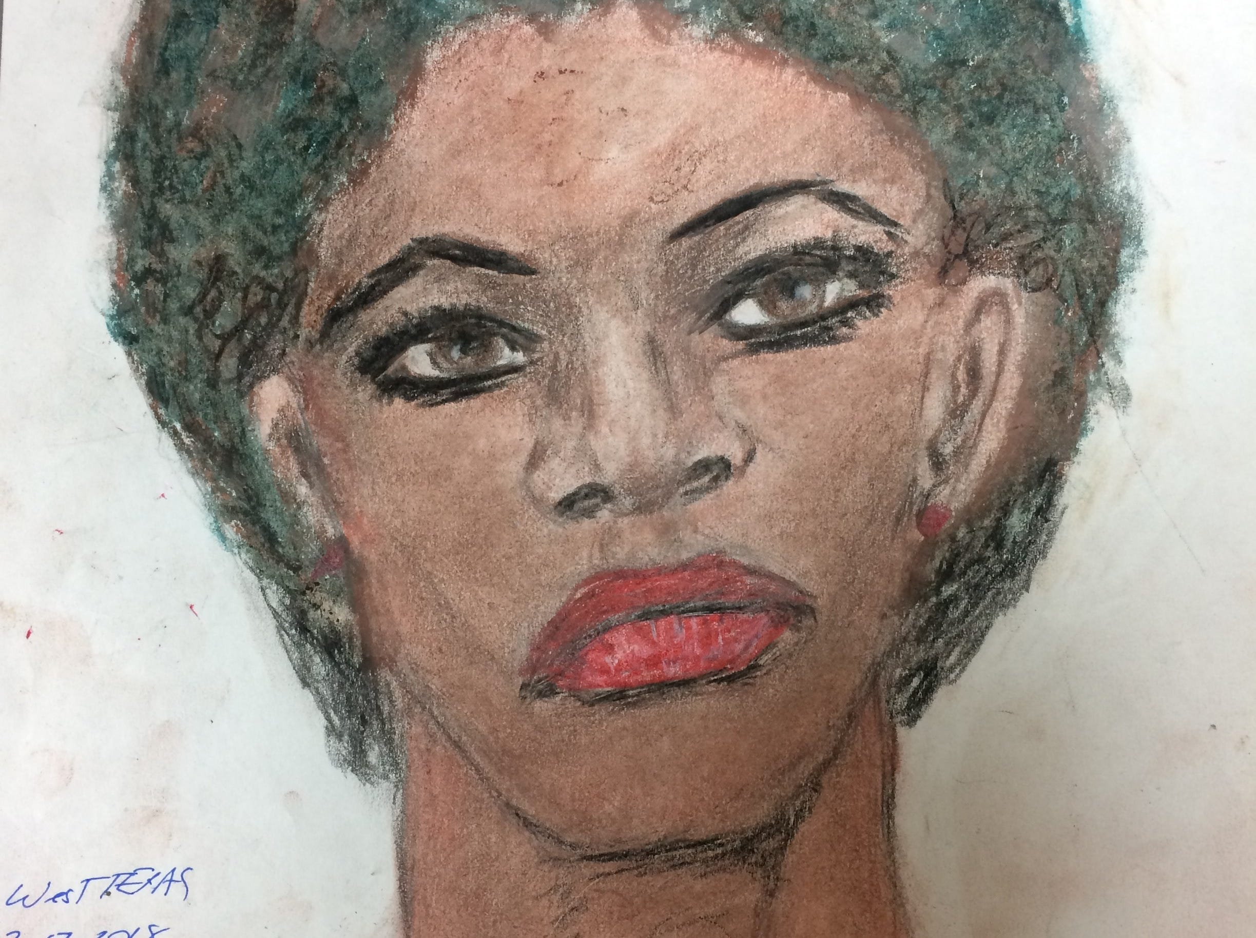 Samuel Little drew this woman who he says he killed either in 1976 or 1977 in Wichita Falls, Texas. Little told authorities he disposed of her remains somewhere outside the city.