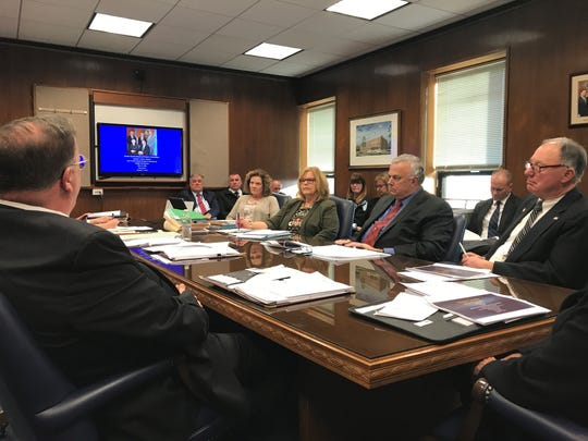 The Ocean County Board of Freeholders and its department heads meet in caucus session on Wednesday, Feb. 13, 2019, for an overview of the proposed $432 million budget for 2019.