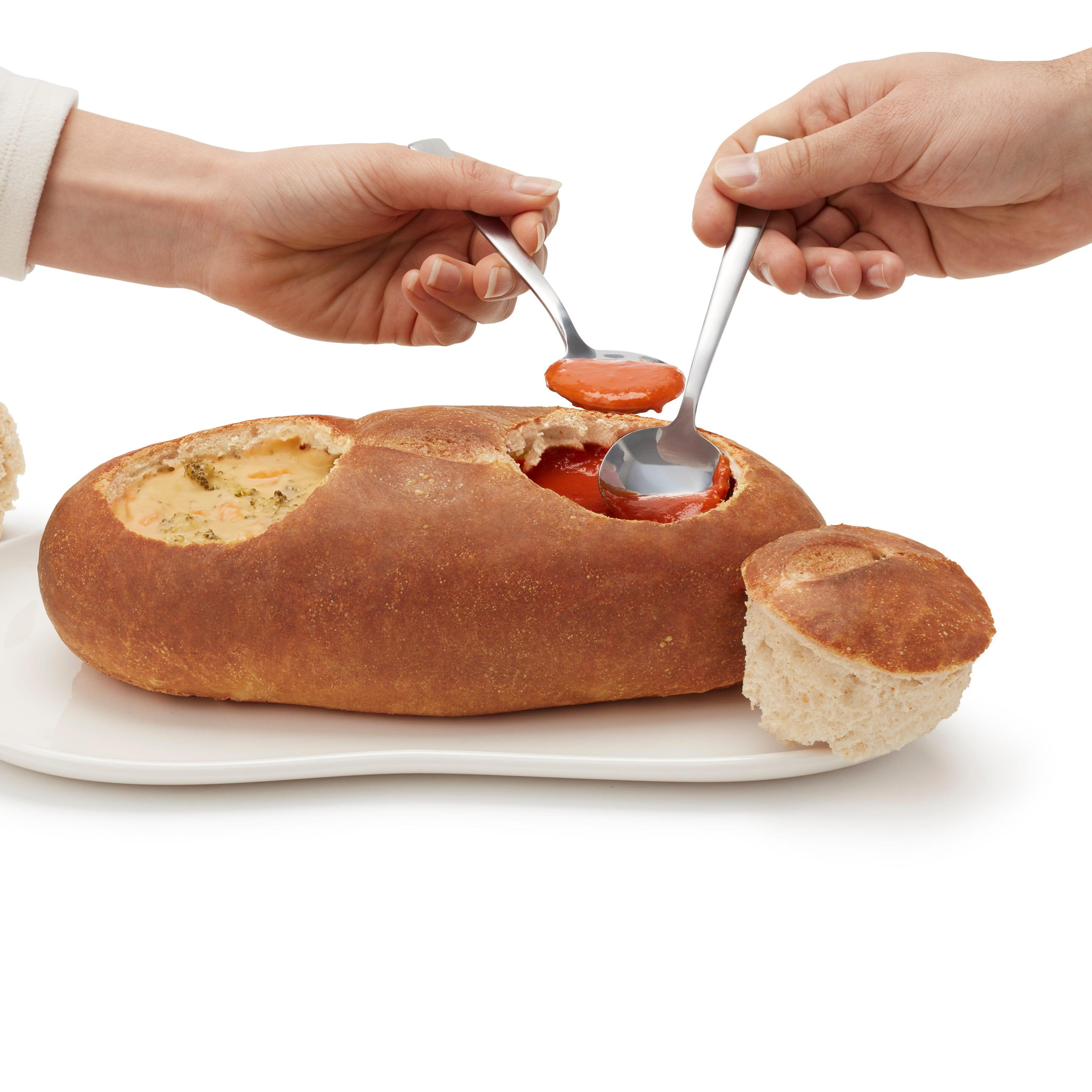 The new Double Bread Bowl from Panera Bread.