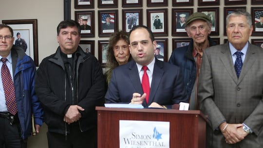 Michael Cohen, eastern director of the Simon Wiesenthal Center, calls on the Jackson Township Council to pass a resolution formally denouncing Rise Up Ocean County.