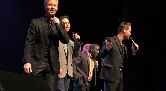 The Gaither Vocal Band performs last week at the Abilene Convention Center. Todd Suttles is second from the right.