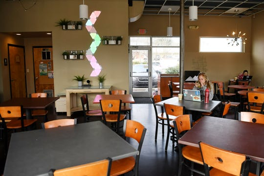 Inside Rolled and Roasted in North Asheville.