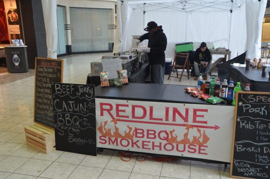 Redline BBQ Smokehouse has a kiosk at Lakeview Square Mall as of the week of Thanksgiving 2018.