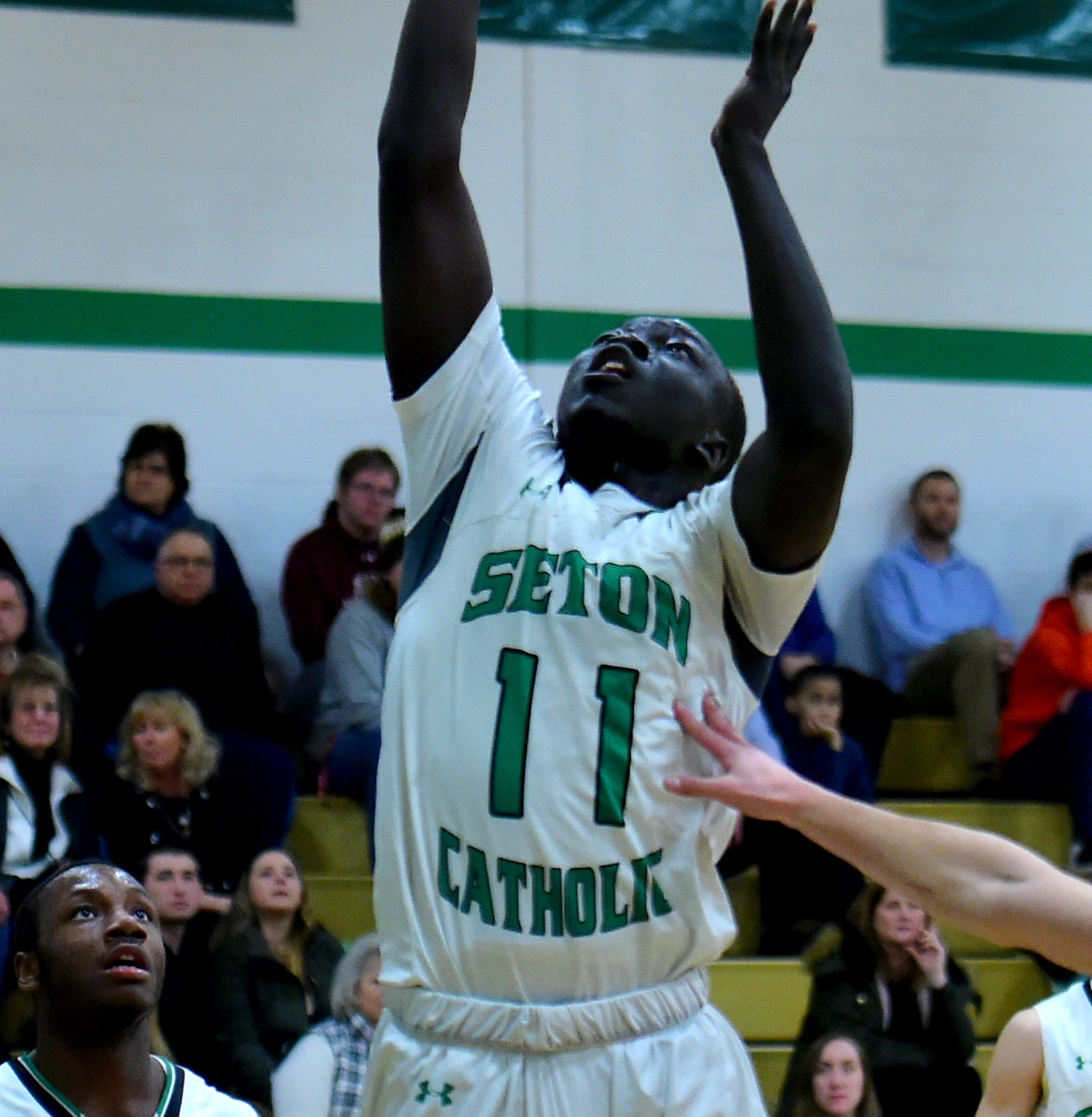 Seton Catholic Central vs. Elmira, STAC semifinal basketball at SCC in Binghamton, Wednesday, February 13, 2019.