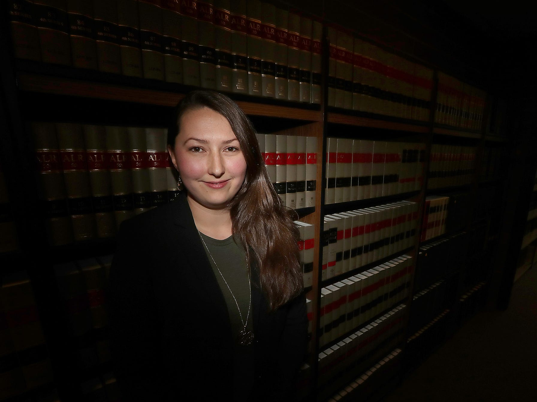 Kitsap County Public Defender Laura Schulman in the Law Library in the Kitsap County Courthouse in Port Orchard on Wednesday, February 13. 2019. Schulman will be a contestant on Jeopardy!.