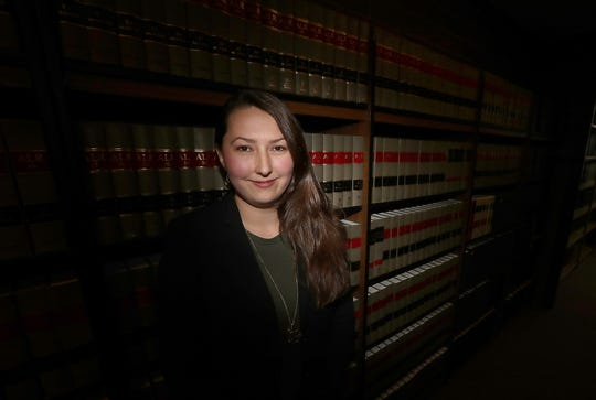Kitsap County Public Defender Laura Schulman in the law library in the Kitsap County Courthouse in Port Orchard. Schulman will be a contestant on Jeopardy!.