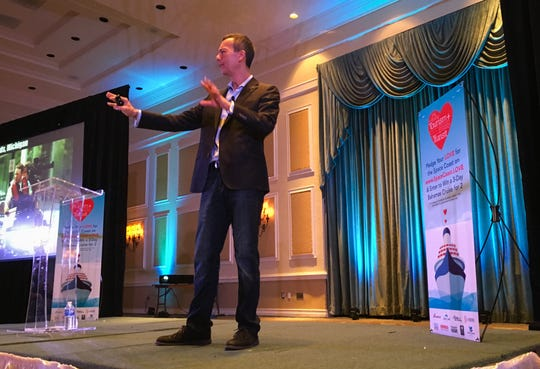 "Peter Kageyama, author of ""For the Love of Cities: The Love Affair Between People and Their Places"" talked about how people can create communities that people love. Kageyama's keynote address was part of the third annual Tourism + Transit Summit at the Radisson Resort. The event was put on by the Space Coast Office of Tourism and the Space Coast Area Transit."