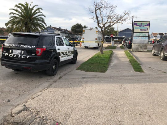 Four people were detained at an apartment complex in the 4500 block of Corona Drive on Feb. 14, 2019 as part of a Corpus Christi Police Department investigation into an armed robbery.