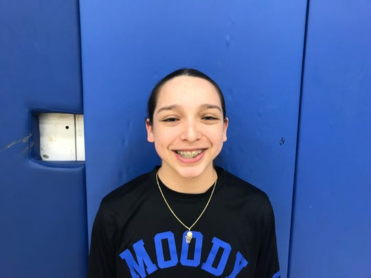 Moody sophomore girls basketball player Sylvia Ozuna was named the Caller-Times High School Athlete of the Week for Jan. 28-Feb. 2.