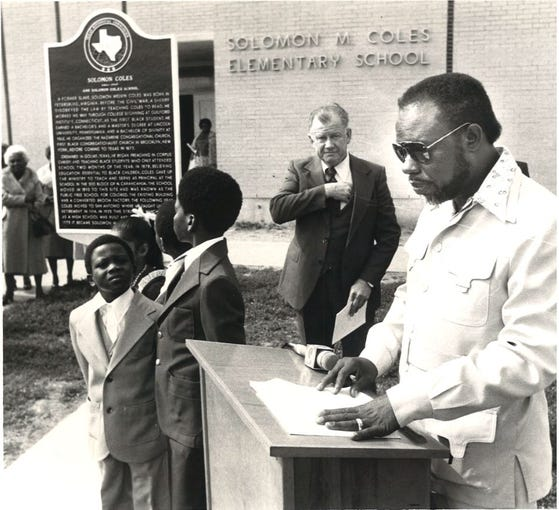 Solomon Coles Elementary School was designated a historical site February 1979.