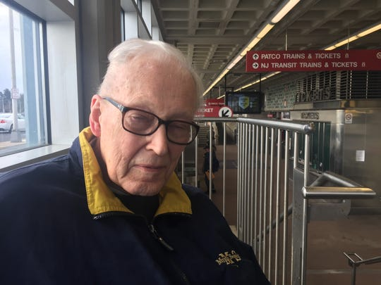 Bill Vigrass, retired assistant general manager of the PATCO Hi-Speedline, revisits Lindenwold station 50 years after he was employed on the first day of the Lindenwold-Philadelphia service this Friday
