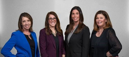 Kathleen Davis (left), executive vice president and  COO  of the Chamber of Commerce Southern New Jersey; and Debra P. DiLorenzo (right), the chamber's president and CEO, are retiring from the organization at the end of this year. The new leaders will be Meredith K. Lorrilliere (second from left), with the role of senior vice president, operations special events and communications; and Christina M. Renna, who will be the chamber's president.