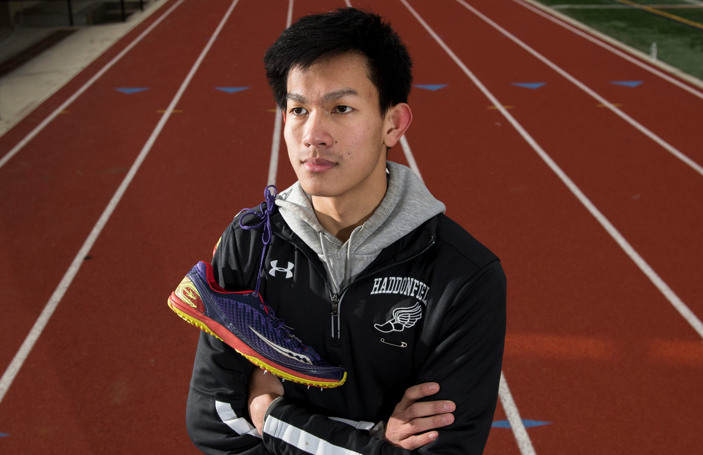 Haddonfield's Zachariah Murray was diagnosed with Non-Hodgkin's Lymphoma at age 5, but has recovered to become one of the fastest runners in the state.