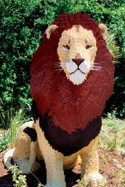 A lion of Lego is part of the Philadelphia Zoo's 'Creatures of Habitat' exhibit.