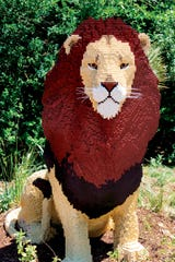 A lion of Lego is part of the Philadelphia Zoo's 'Creatures of Habitat' exhibit.