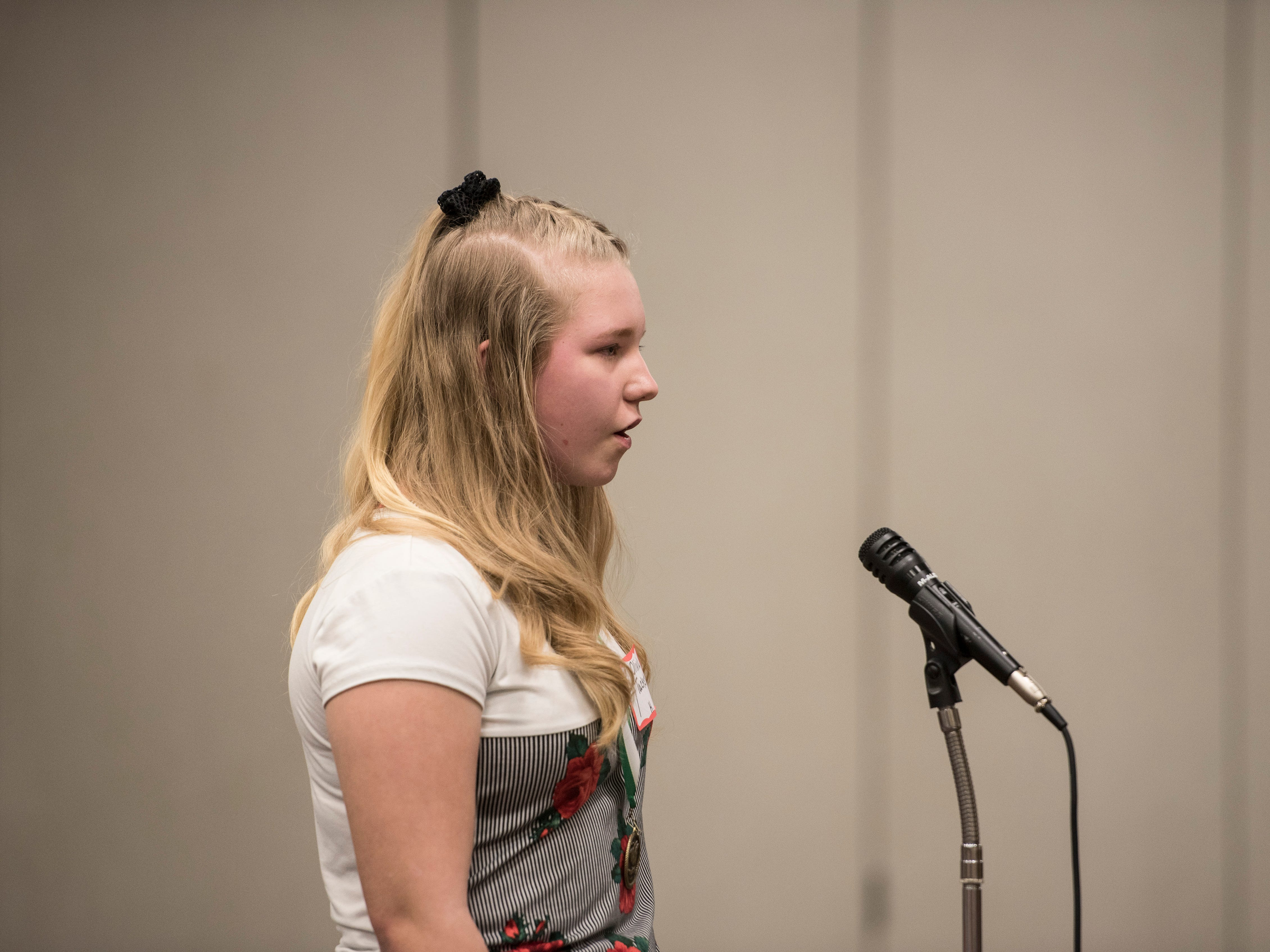 The 2019 Ross County Spelling Bee was held at the Ross County Service Center on Thursday, Feb. 14, 2019, with Zane Trace eighth-grader Macy Long taking top honors.