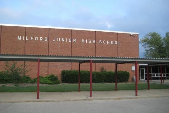 Milford Junior High School will be torn down if voters in the Milford Exempted Village School District approve a bond issue in May to finance a $98 million construction project that would include a new middle school.